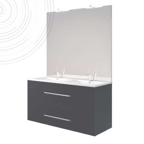 Meuble a suspendre 120cm anthracite new york - Bathroom Therapy